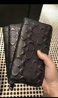 Original coach men Wallet purse Pouch men Messenger bag