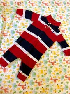 Ralph Lauren long sleeves baby romper (3M)