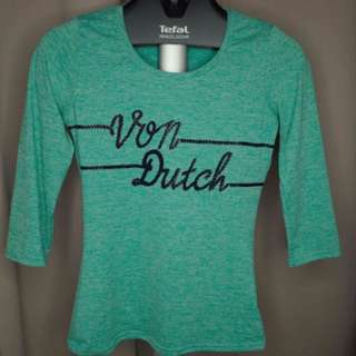 Von Dutch Green Top (3/4)