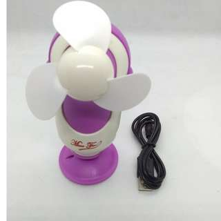 Handy Rechargeable mini fan USB modern design (voilet)