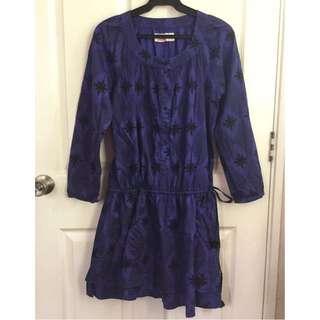 Blue Violet long sleeve dress