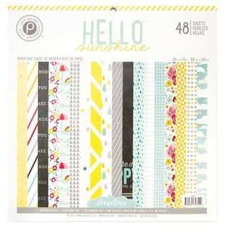 "12"" by 12"" scrapbook paper pad — hello sunshine by pink paislee"