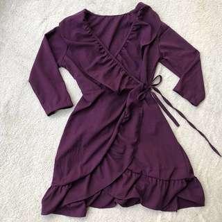 Violet Wrap Around Dress