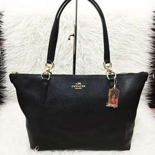 AUTHENTIC COACH Crossgrain Leather ava tote FRM US