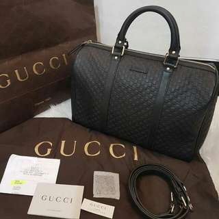 TAS GUCCI BOSTON BLACK LIKE NEW