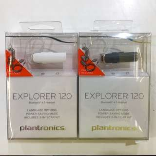 Plantronics Explorer 120 - Frost White / Smoked Grey
