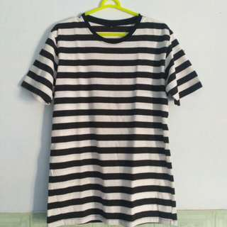 T-Shirt Black-White Stripe