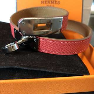 Hermès Kelly Double Tour Leather Bracelet