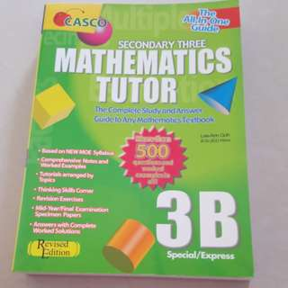 Casco Secondary 3B Mathematics Tutor