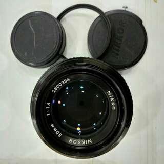 Nikon nikkor 50mm f1.4 portrait lens used