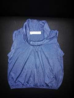 Blue Sleveless Top