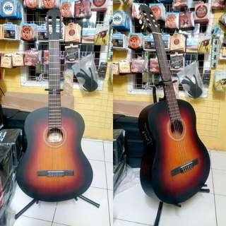 Gitar nilon akustik elektrik