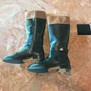 Coach Two-Toned Leather Boots size 8B