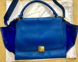 Celine Trapeze Medium Bag Navy Blue