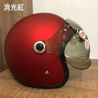 騎士工廠🔹新品🔸GP-5 GP5泡泡鏡安全帽 復古帽-消光紅#319-送帽袋