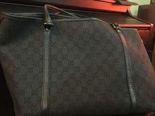 Authentic Gucci Denim Tote Medium Preloved