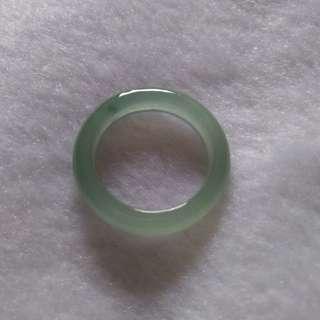 緬甸玉a貨冰種玉戒,內徑17.2mm,12圍