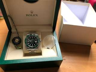 Rolex Green Submariner 116610lv