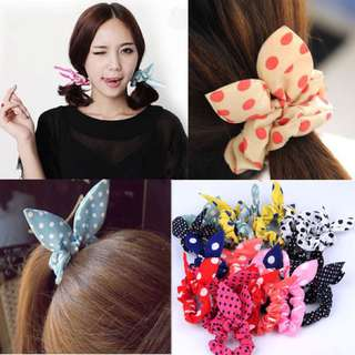 Bunny ears Hair Accessories rubber band 3 for $2.50