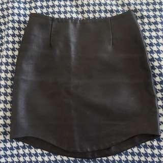 Bardot Pleather Mini Skirt
