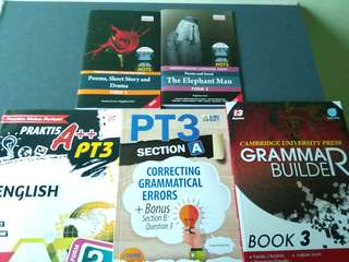 Form 3 English exercise book & literature reference book