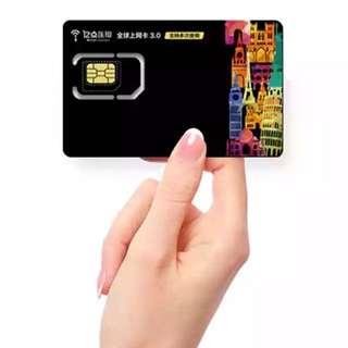 日本4G上網7天不限流量電話卡