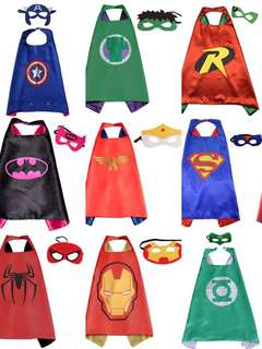 Kids Superhero Costume cosplay  - Cape & Mask