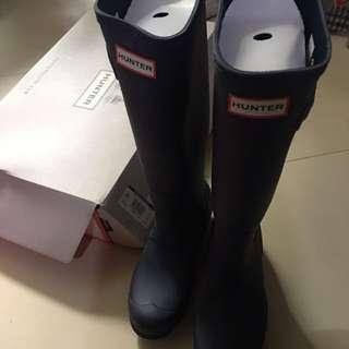 全新HUNTER Boots blue with stripe