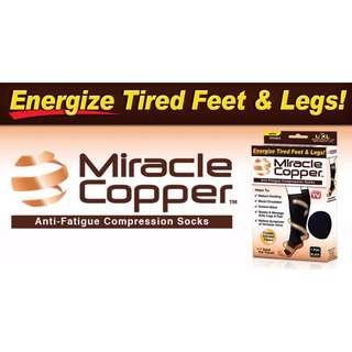 Miracle Copper Compression Socks (S/M size)