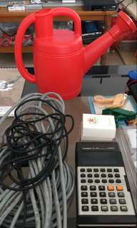 Lan+sound cables + brand new small watering can selling cheap