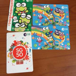 Keroppi and sg50 ezlink cards (negotiable)