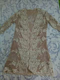 Mother of the Bride and Groom vintage scallop trim lace dress