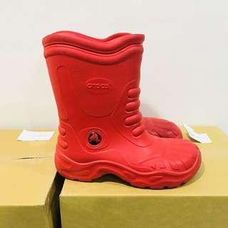 🚚 CROCS紅色雨鞋