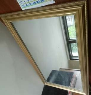 Gold frame mirror 68cm by 48cm