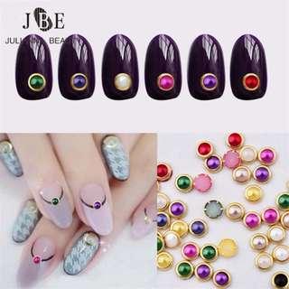 12 Grid Round Beads Nail Art Decoration Wheel Pearl Crystal UV Gel Glitter Rhinestone Polish For 4mm Nails Beauty Bling Stone