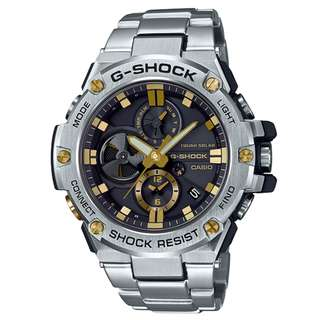 CASIO G-SHOCK GST G-STEEL series GST-B100D 黑金色 鋼帶 GSHOCK GSTB100D