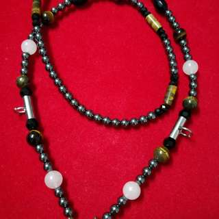 Beautiful Magnetic Beads Necklace (With Tiger Eye Beads)