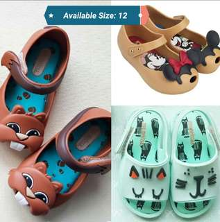 Mini Melissa Shoes - size 12 on hand