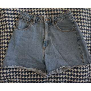 Abrand Jeans High Waisted Denim Short (Relaxed fit)