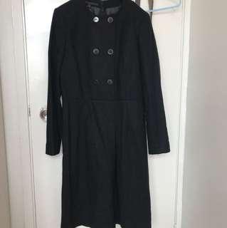 EQ IQ size 38 黑色薄絨連身裙