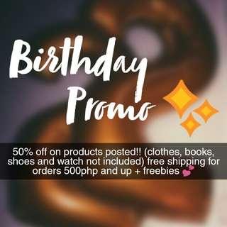 Birthday Promo 💕