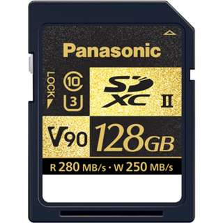 Panasonic 128GB UHS-II SDXC Memory Card. Designed primarily so that GH5 users will be able to fully embrace all of the features in its 2.0 firmware update