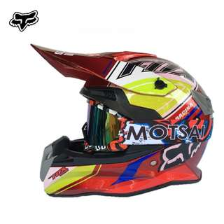 ★READY STOCK SIZE L★FREE GOGGLES ★ FULL FACE ★ MOTORCYCLE ★ HELMET ★OFF ROAD ★ RED ★ MOTOCROSS ★ e-SCOOTER ★ e-bike ★ DIRT BIKE★DOWNHILL ★ CYCLING RIDING
