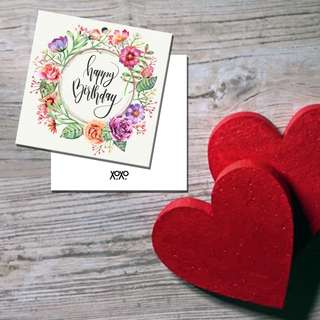 Happy Birthday Floral Card Tag