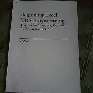 VBA EXCEL PROGRAMMING NOTES