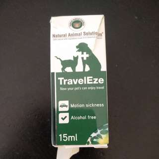 Natural Animal Solutions TravelEze 15ml expiry Aug 2018