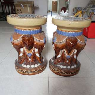 Pair of elephant stools