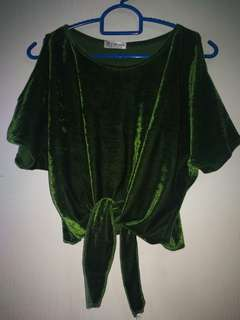 Velvet emeral green top