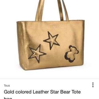 Tous metallic gold bag