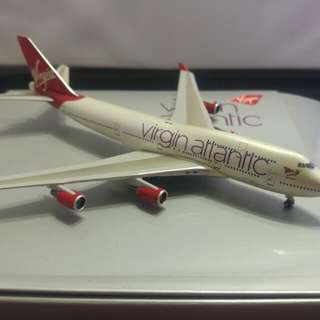 "1:400 Scale Aircraft model. Virgin Atlantic ""Ruby Tuesday"" for sale. Rare model and no longer in circulation."